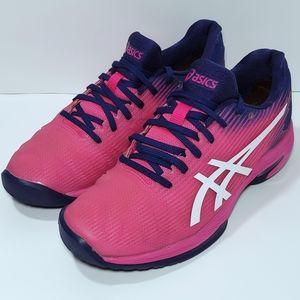 ASICS Solution Speed FF Pink/Navy Tennis Shoe